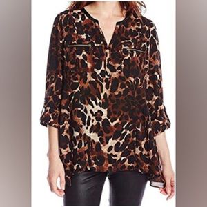 Rafaella Cheetah Long sleeve Blouse sz. 3X